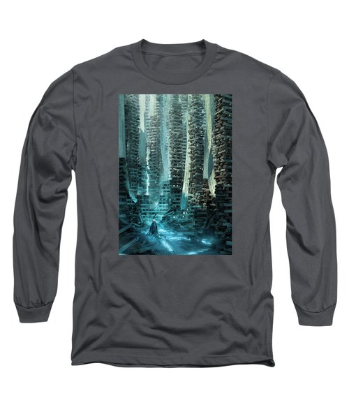 Ancient Library V1 Long Sleeve T-Shirt by Te Hu