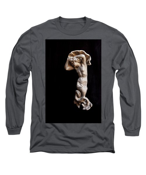 Ancient Statue Of The Virgin Of The Sea Long Sleeve T-Shirt