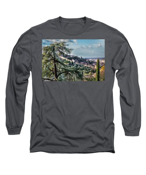 Ancient Walls Of Florence Long Sleeve T-Shirt by Sonny Marcyan