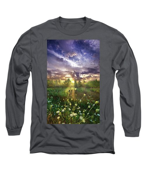 Long Sleeve T-Shirt featuring the photograph And In The Naked Light I Saw by Phil Koch