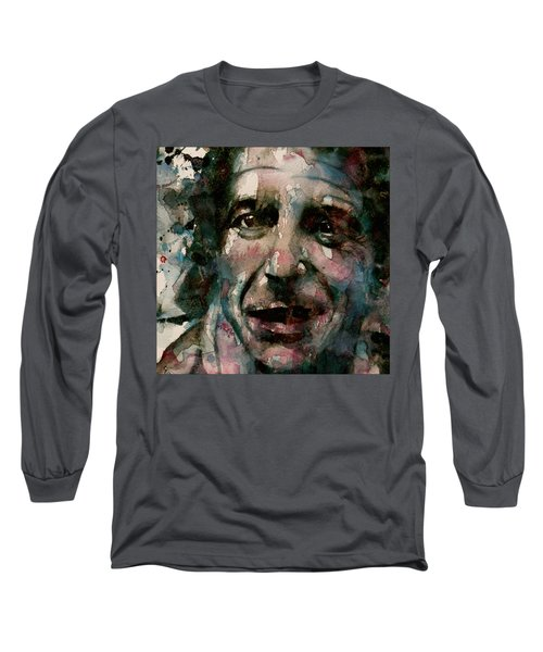 Long Sleeve T-Shirt featuring the painting And She Feeds You Tea And Oranges That Come All The Way From China  by Paul Lovering