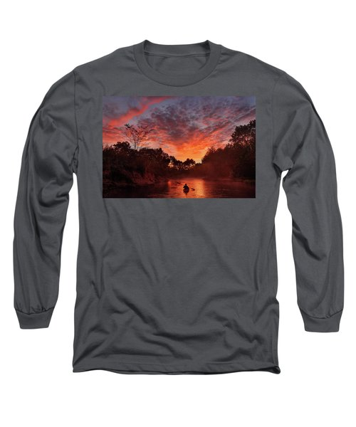 And The Day Begins Long Sleeve T-Shirt by Robert Charity