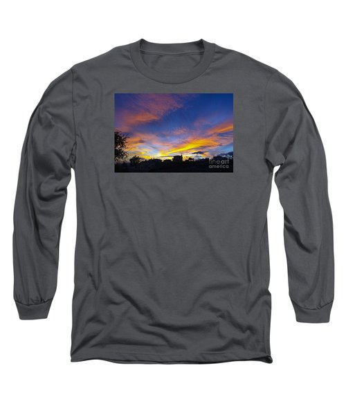 Andalusian Sunset Long Sleeve T-Shirt by Perry Van Munster