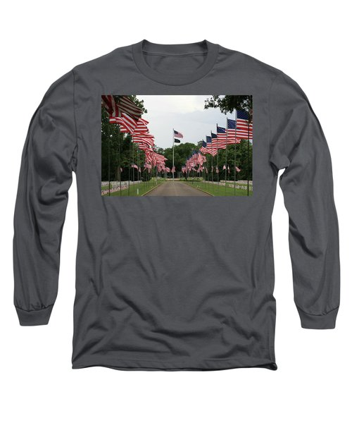 Long Sleeve T-Shirt featuring the photograph Andersonville National Cemetery by Jerry Battle