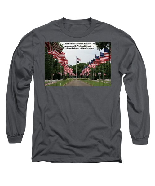 Andersonville National Park Long Sleeve T-Shirt by Jerry Battle