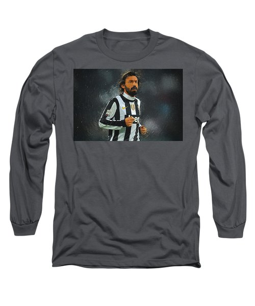 Andrea Pirlo Long Sleeve T-Shirt by Semih Yurdabak
