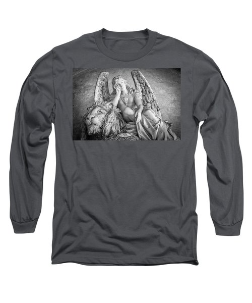 Angel And Lion Long Sleeve T-Shirt by Sonny Marcyan