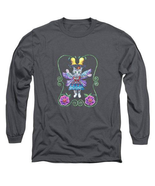 Angel Kitty Love Long Sleeve T-Shirt