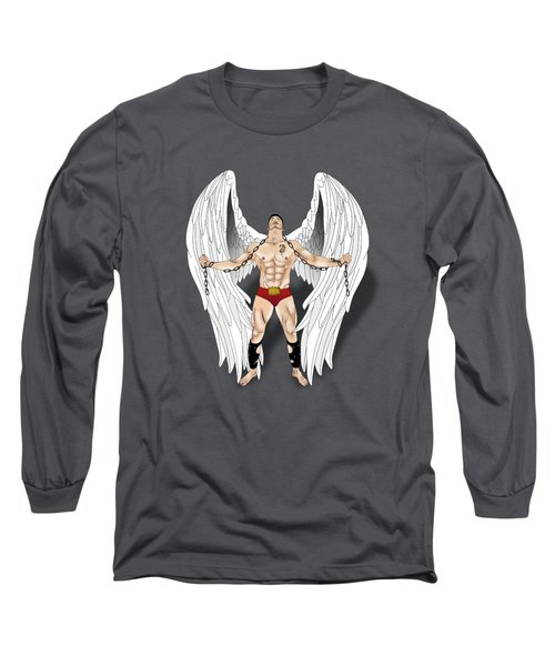 Angel Love 2  Long Sleeve T-Shirt by Mark Ashkenazi
