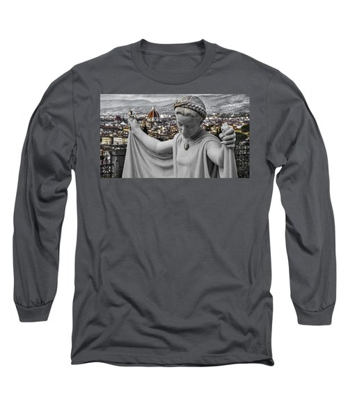 Angel Of Florence Long Sleeve T-Shirt by Sonny Marcyan