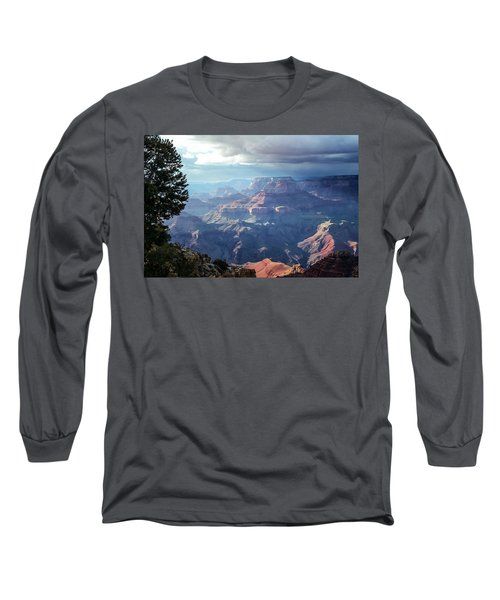 Angel S Gate And Wotan S Throne Grand Canyon National Park Long Sleeve T-Shirt