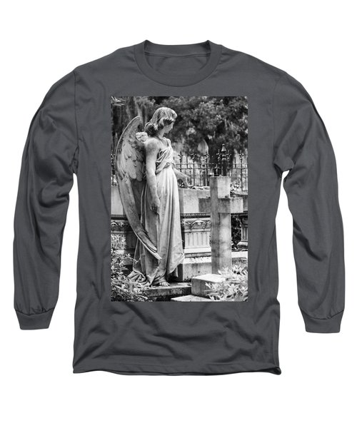 Angel With Cross Of Bonaventure Cemetery Long Sleeve T-Shirt