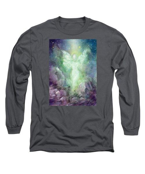 Angels Journey Long Sleeve T-Shirt by Marina Petro