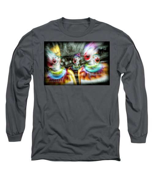 Long Sleeve T-Shirt featuring the photograph Angry Clowns by Wayne Sherriff