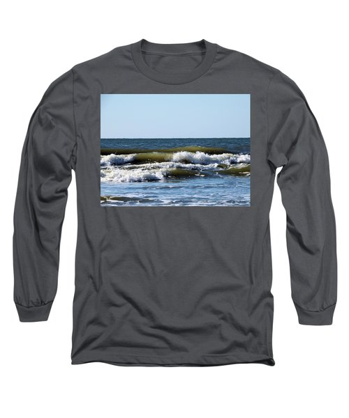 Long Sleeve T-Shirt featuring the photograph Angry Sea by Cathy Harper