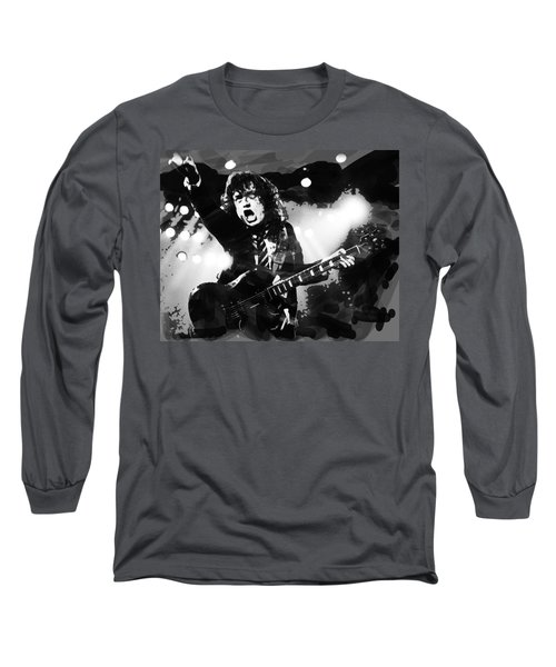 Angus Young B And W  Long Sleeve T-Shirt