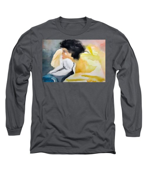 Ann Watching Tv - Digitalart Long Sleeve T-Shirt