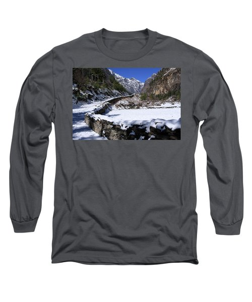 Long Sleeve T-Shirt featuring the photograph Annapurna Circuit Trail by Aidan Moran
