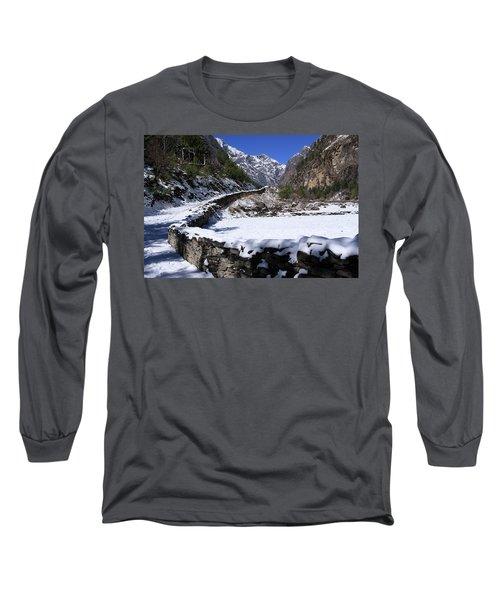 Annapurna Circuit Trail Long Sleeve T-Shirt by Aidan Moran