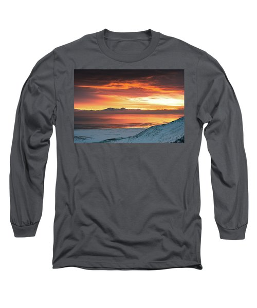 Antelope Island Sunset Long Sleeve T-Shirt