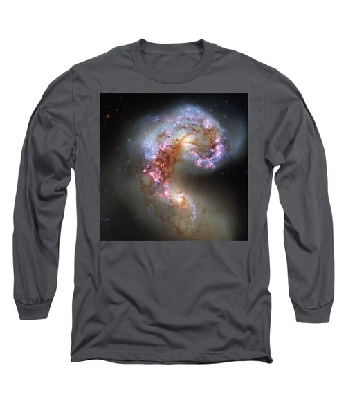Long Sleeve T-Shirt featuring the photograph Antennae Galaxies Reloaded by Nasa