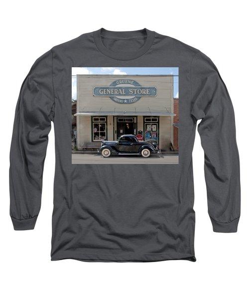 Antique Car At Gruene General Store Long Sleeve T-Shirt