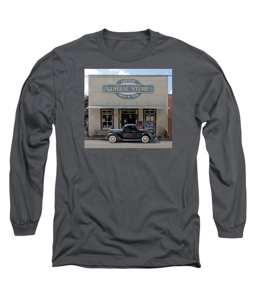 Antique Car At Gruene General Store Long Sleeve T-Shirt
