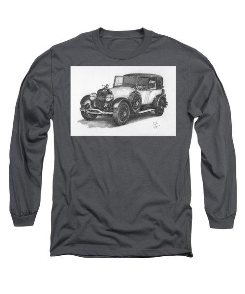 Antique Car -pencil Study Long Sleeve T-Shirt