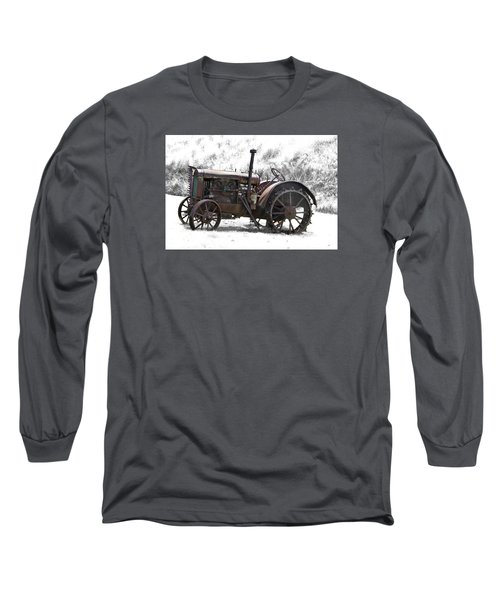 Antique Iron Horse Long Sleeve T-Shirt by Kathy M Krause
