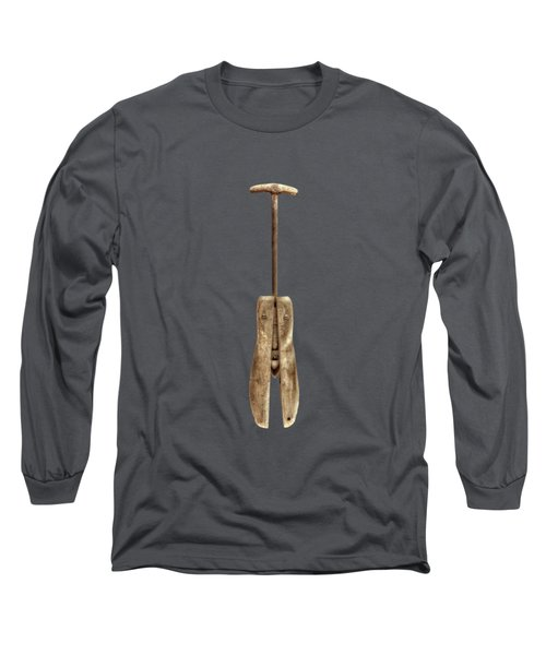 Antique Shoe Stretcher On Black Long Sleeve T-Shirt