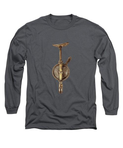 Antique Shoulder Drill Backside On Black Long Sleeve T-Shirt