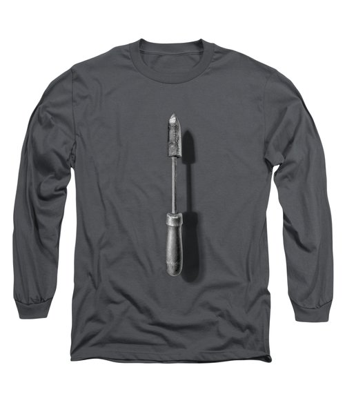 Antique Soldering Iron In Black And White Long Sleeve T-Shirt