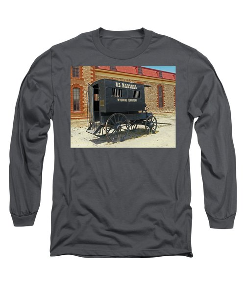 Antique U.s Marshalls Wagon Long Sleeve T-Shirt by Sally Weigand