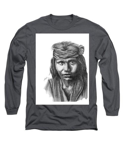 Apache Boy Long Sleeve T-Shirt by Lawrence Tripoli