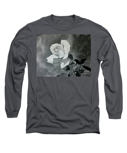 Long Sleeve T-Shirt featuring the drawing Aperitif Rose by Terri Mills