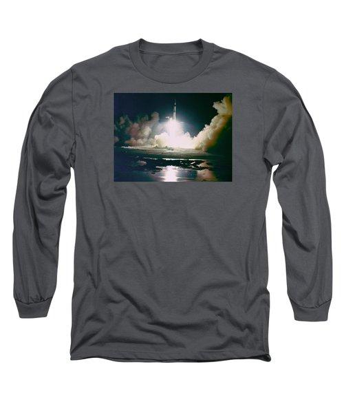 Apollo 17 Night Launch Long Sleeve T-Shirt