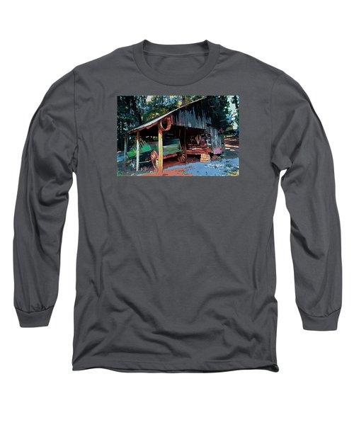 Appalachia Wagon Waiting For Repair  Long Sleeve T-Shirt