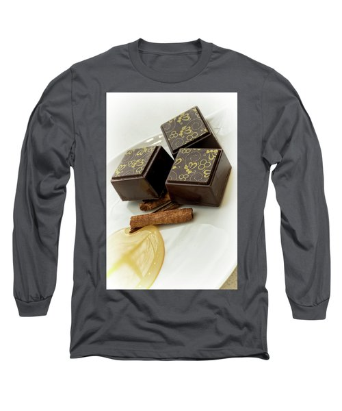Apple Honey Cinnamon Chocolate Long Sleeve T-Shirt