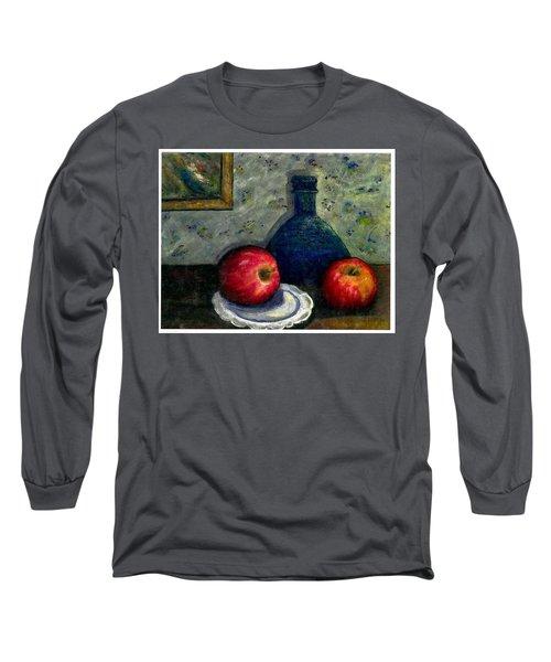 Apples And Bottles Long Sleeve T-Shirt by Gail Kirtz