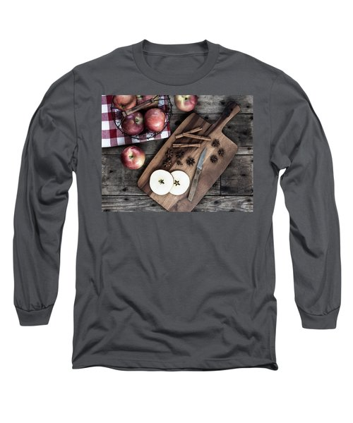 Long Sleeve T-Shirt featuring the photograph Apples And Cinnamon  by Kim Hojnacki