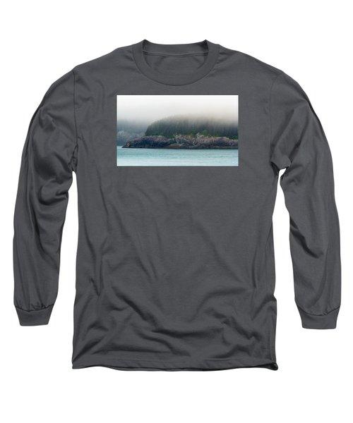 Approaching Glacier Bay Alaska Long Sleeve T-Shirt by Allan Levin