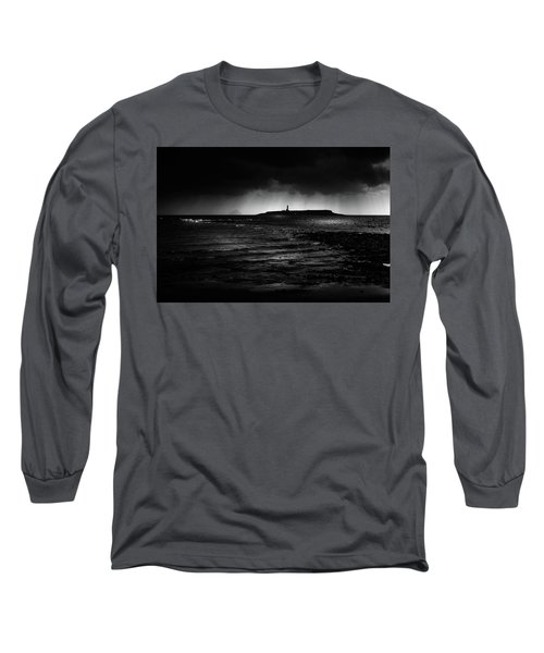 Approaching Storm, Ailsa Craig And Pladda Island Long Sleeve T-Shirt