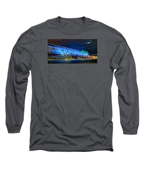 April 2015 -  Birmingham Alabama Baseball Regions Field At Night Long Sleeve T-Shirt by Alex Grichenko