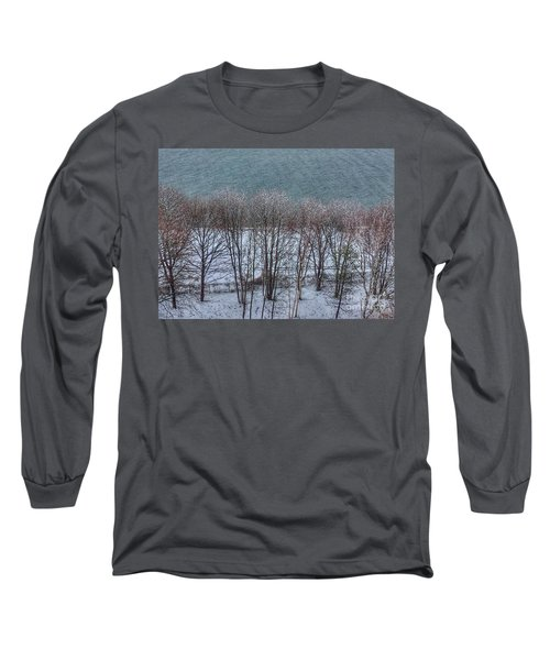 April Snow On Portland Trails Long Sleeve T-Shirt