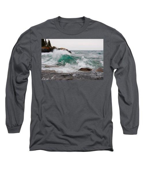 April Waves On Superior Long Sleeve T-Shirt by Sandra Updyke