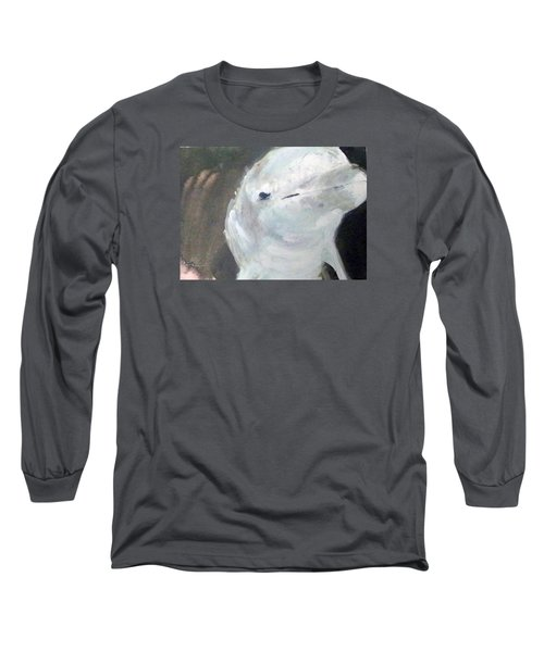 Long Sleeve T-Shirt featuring the painting Aqua by Ed Heaton