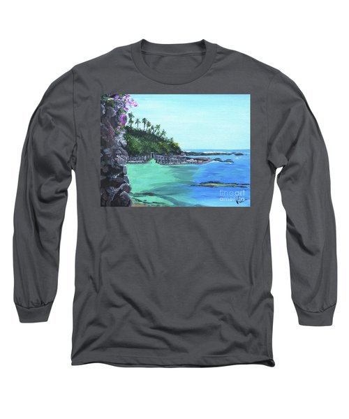 Long Sleeve T-Shirt featuring the painting Aqua Passage by Judy Via-Wolff