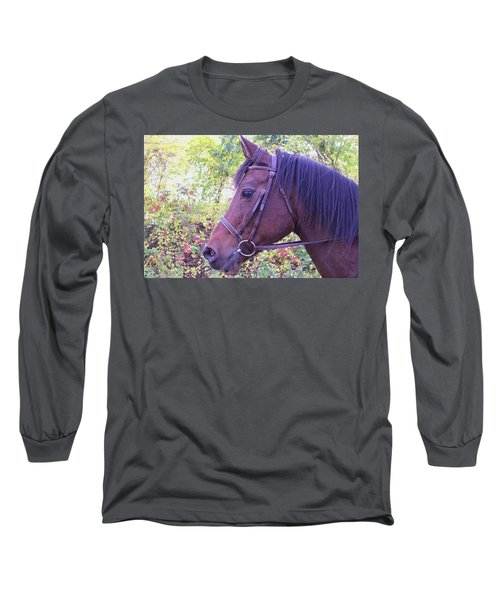 Long Sleeve T-Shirt featuring the digital art Arabian Beauty by Barbara S Nickerson