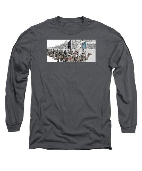 Arabian Cavalry Long Sleeve T-Shirt by Kurt Ramschissel