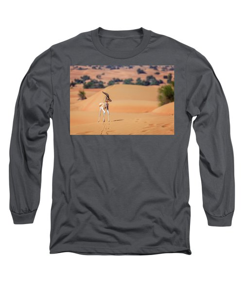 Long Sleeve T-Shirt featuring the photograph Arabian Gazelle by Alexey Stiop